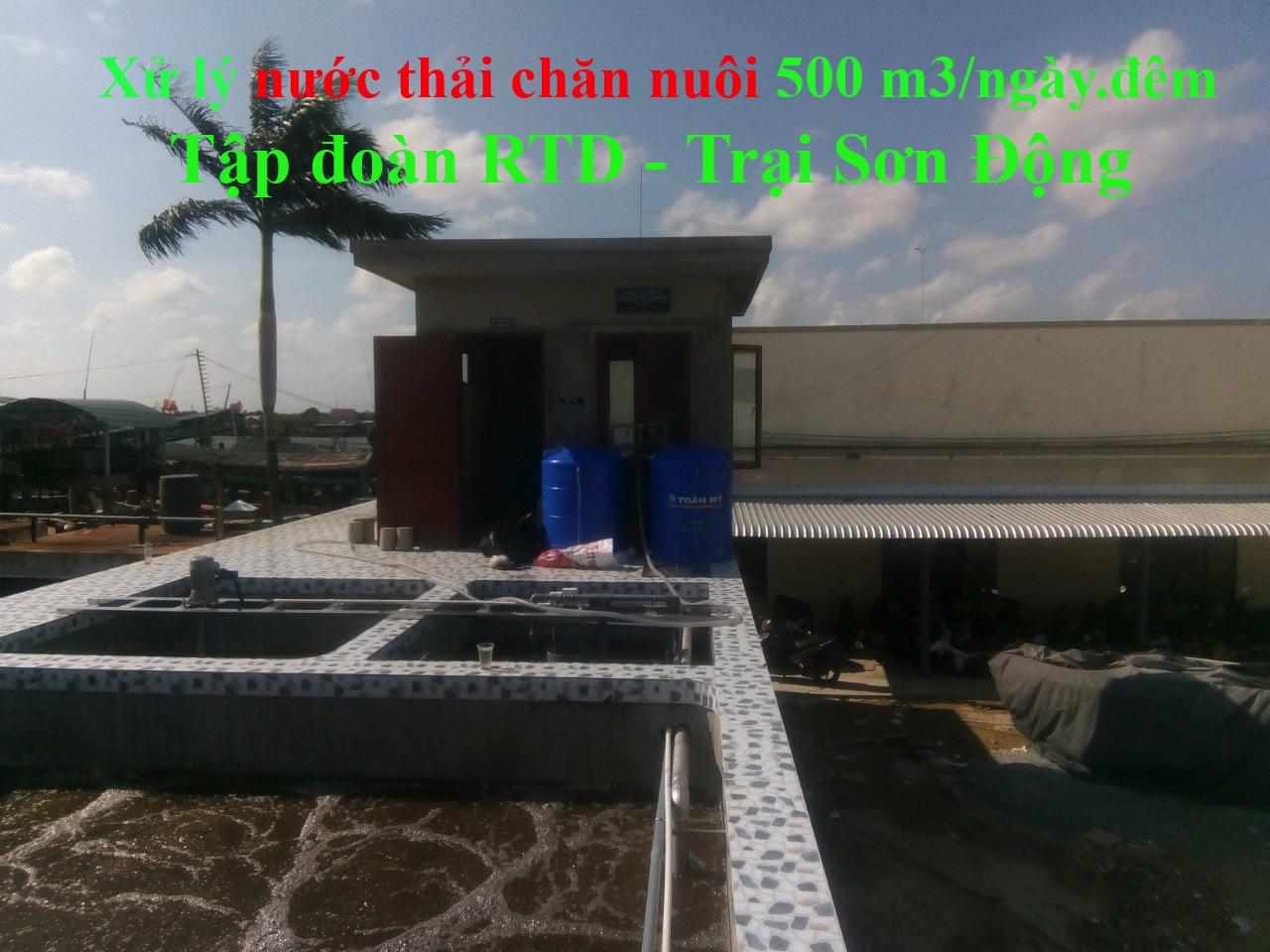 Xử lý nước thải chăn nuôi trại sơn động 500 m3