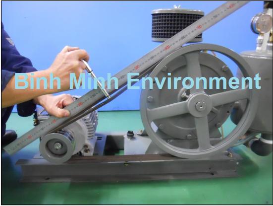Bảo trì hệ thống xử lý nước thải - Kiểm tra dây curoa