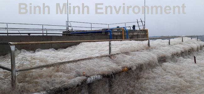 Hướng dẫn nuôi cấy bùn vi sinh hoạt tính - Bọt vi sinh bị sốc – trong nước thải có nhiều chất tẩy rửa