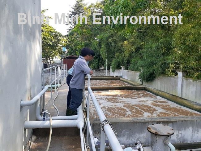 Hình 3. Vận hành hệ thống xử lý nước thải tại KCN Vsip 2 - Kiểm tra nhân sự vận hành