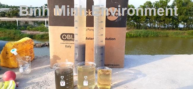 Đo nồng độ bùn vi sinh đạt 40%