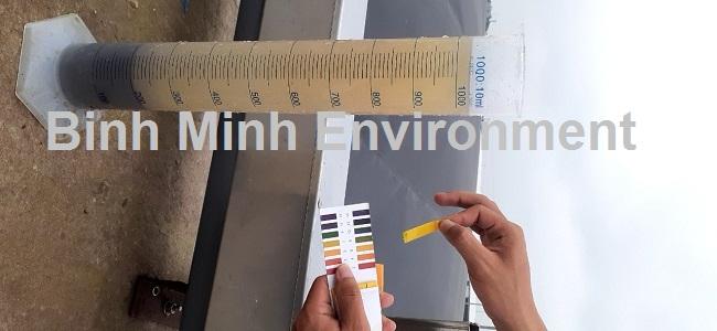 Hướng dẫn nuôi cấy bùn vi sinh hoạt tính - Kiểm tra pH trong bể xử lý trước khi tiến hành nuôi cấy vi sinh