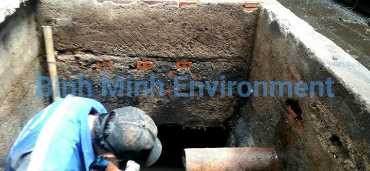Nạo vét bể chứa nước sau xử lý