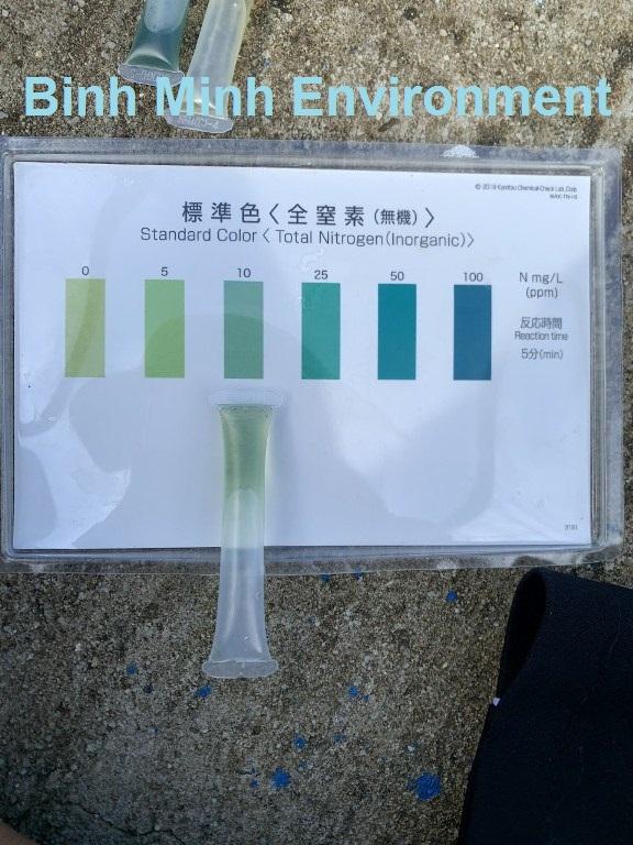 Test mẫu nhanh nước thải sau xử lý TN = 40 mg/l
