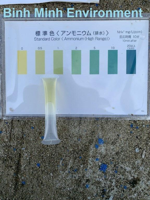 Test mẫu Amoni nước thải sau xử lý