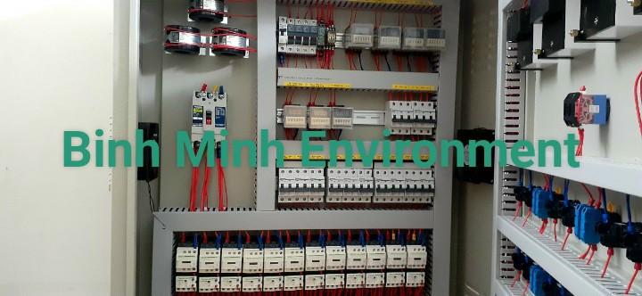 Thi công lắp đặt tủ điện xử lý nước thải - Tủ điện hệ thống XL nước thải CS200 m3